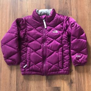 Little girls North Face down jacket